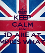 KEEP CALM CUZ 1D ARE AT THE OLYMPICS WHAT IS CALM - Personalised Poster A4 size