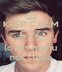 KEEP CALM CUZ CONNOR FRANTA loves manu not stella - Personalised Poster A4 size