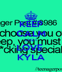KEEP CALM CUZ I LOVE  KYLA - Personalised Poster A4 size