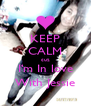 KEEP CALM cuz I'm In love With Jessie - Personalised Poster A4 size