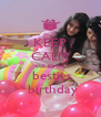 KEEP CALM  cuz it's my    besties    birthday  - Personalised Poster A4 size