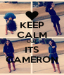 KEEP CALM CUZ ITS CAMERON - Personalised Poster A4 size