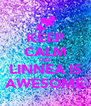 KEEP CALM CUZ LINNEA IS AWESOME - Personalised Poster A4 size