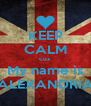 KEEP CALM cuz My name is ALEXANDRIA - Personalised Poster A4 size