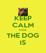 KEEP CALM CUZ THE DOG IS - Personalised Poster A4 size