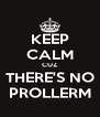 KEEP CALM CUZ THERE'S NO PROLLERM - Personalised Poster A4 size