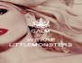 KEEP CALM CUZ WE ARE LITTLEMONSTERS - Personalised Poster A4 size