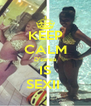 KEEP CALM D'zarea IS SEXII  - Personalised Poster A4 size