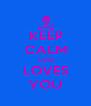 KEEP CALM DAD LOVES YOU - Personalised Poster A4 size