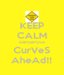 KEEP CALM DanGerOus CurVeS AheAd!! - Personalised Poster A4 size