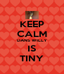 KEEP CALM DANS WILLY IS TINY - Personalised Poster A4 size