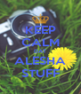 KEEP CALM DAT ALESHA STUFF - Personalised Poster A4 size