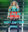 KEEP CALM @ddlovato will twitte you  - Personalised Poster A4 size