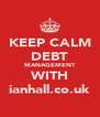 KEEP CALM DEBT MANAGEMENT WITH ianhall.co.uk - Personalised Poster A4 size