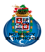 KEEP CALM DEEJAY NO MERCY IN THE HOUSE - Personalised Poster A4 size