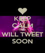 KEEP CALM Delly WILL TWEET SOON - Personalised Poster A4 size