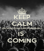 KEEP CALM DESPEDIDA DA MANSAO IS  COMING - Personalised Poster A4 size