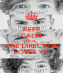 KEEP CALM DIVYA ONE DIRECTION LOVES YA - Personalised Poster A4 size