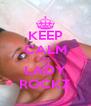 KEEP CALM DIZ  LADY ROCKZ - Personalised Poster A4 size