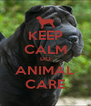 KEEP CALM DO ANIMAL CARE - Personalised Poster A4 size