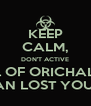 KEEP CALM, DON'T ACTIVE SEAL OF ORICHALCOS YOU CAN LOST YOUR SOUL - Personalised Poster A4 size