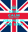 KEEP CALM DON'T PUT  GRAPES IN THE SINK - Personalised Poster A4 size