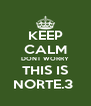 KEEP CALM DONT WORRY THIS IS NORTE.3  - Personalised Poster A4 size