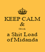 KEEP CALM & Drink a Shit Load of Midanda - Personalised Poster A4 size