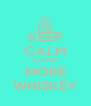 KEEP CALM & DRINK MORE WHISKEY - Personalised Poster A4 size