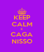 KEEP CALM E CAGA NISSO - Personalised Poster A4 size