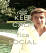 KEEP CALM e fica SOCIAL - Personalised Poster A4 size