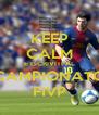 KEEP CALM E ISCRIVITI AL CAMPIONATO FIVP - Personalised Poster A4 size