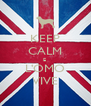 KEEP CALM E  L'OMO VIVE - Personalised Poster A4 size