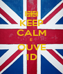 KEEP CALM E OUVE 1D - Personalised Poster A4 size