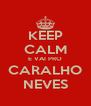 KEEP CALM E VAI PRO CARALHO NEVES - Personalised Poster A4 size