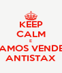 KEEP CALM E VAMOS VENDER ANTISTAX - Personalised Poster A4 size