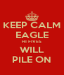 KEEP CALM EAGLE HI FIVES WILL PILE ON - Personalised Poster A4 size