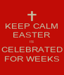 KEEP CALM EASTER IS CELEBRATED FOR WEEKS - Personalised Poster A4 size