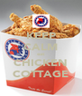 KEEP CALM eat CHICKEN COTTAGE - Personalised Poster A4 size