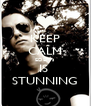 KEEP CALM EDEM's IS  STUNNING - Personalised Poster A4 size