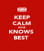 KEEP CALM EDIE KNOWS  BEST  - Personalised Poster A4 size