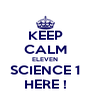 KEEP CALM ELEVEN SCIENCE 1 HERE ! - Personalised Poster A4 size