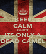 KEEP CALM ELLIOTT ITS ONLY A DEAD CAMEL - Personalised Poster A4 size