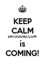 KEEP CALM ENTODORD.COM is COMING! - Personalised Poster A4 size