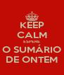 KEEP CALM ESPERE O SUMÁRIO DE ONTEM - Personalised Poster A4 size