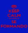 KEEP CALM ESTAMOS SE FORMANDO - Personalised Poster A4 size