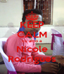 KEEP CALM Eu amo a Nicole Rodrigues - Personalised Poster A4 size