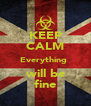 KEEP CALM Everything   will be  fine - Personalised Poster A4 size
