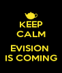KEEP CALM  EVISION  IS COMING - Personalised Poster A4 size
