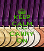 KEEP CALM EXTRA CARRY ON - Personalised Poster A4 size